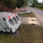 Street light works on Mill Road, Great Gidding, and they do!