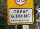 Great Gidding Neighbourhood Watch signs 2014
