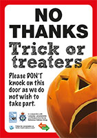 Trick or treat poster NO THANKS