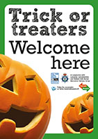 Trick or treat poster - WELCOME