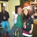David Roughton enjoying the limelight as Mince Pie Champion