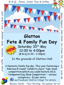 Glatton Fete 2015 Poster