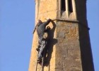 Repairs to St Michael's steeple in Great Gidding