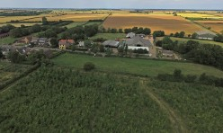 Aerial view of Great Gidding - Main Street and Jubilee Wood