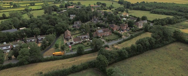 Aerial photography of Great Gidding