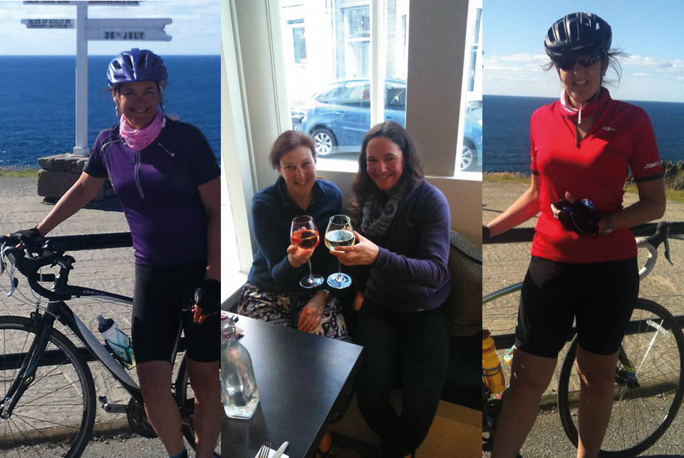 Sue and Amelia complete 1036 mile bike ride