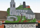 Great Gidding sign refreshed for 2016