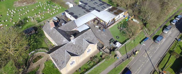 Aerial video and photos of Great Gidding School