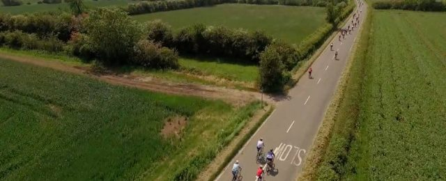 Drone video of Tour of Cambridgeshire through Great Gidding