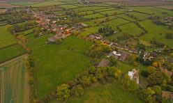 Aerial view of Great Gidding - Main Street looking north east