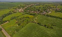 Aerial view of Great Gidding from Winwick Road