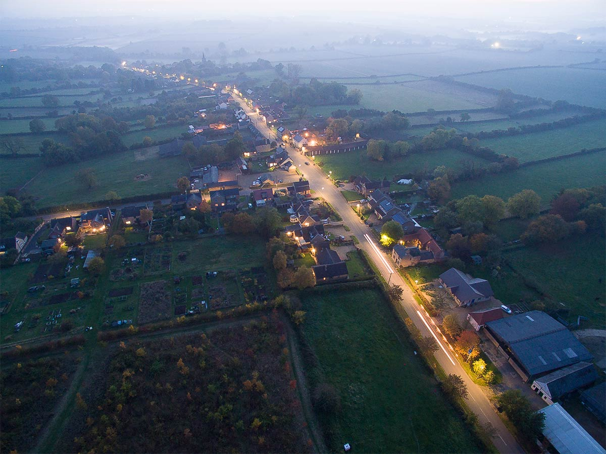 Aerial view of Great Gidding