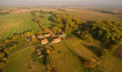Aerial view of Little Gidding - October 2016 I