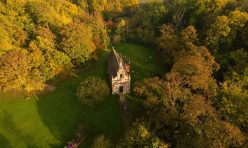 Aerial view of Little Gidding - October 2016 II