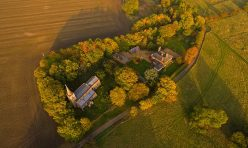 Aerial view of Steeple Gidding - October 2016 I