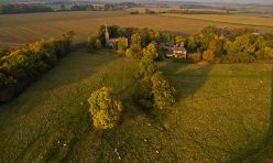 Aerial view of Steeple Gidding - October 2016 II