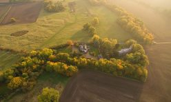 Aerial view of Steeple Gidding - October 2016 III