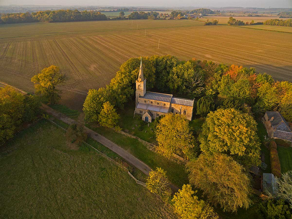 St Andrew's Church, Steeple Gidding, Autumn 2016