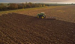 Farming in Great Gidding - ploughing Autumn