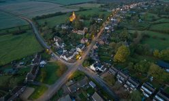 Great Gidding Main Street - Autumn 2016 dusk
