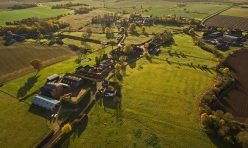 Aerial view of Hamerton Autumn 2016