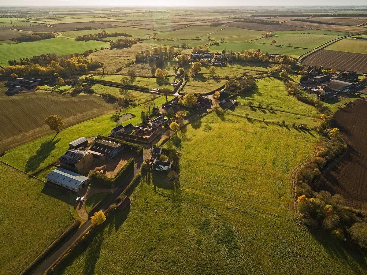 Aerial view of Hamerton Autumn 2016