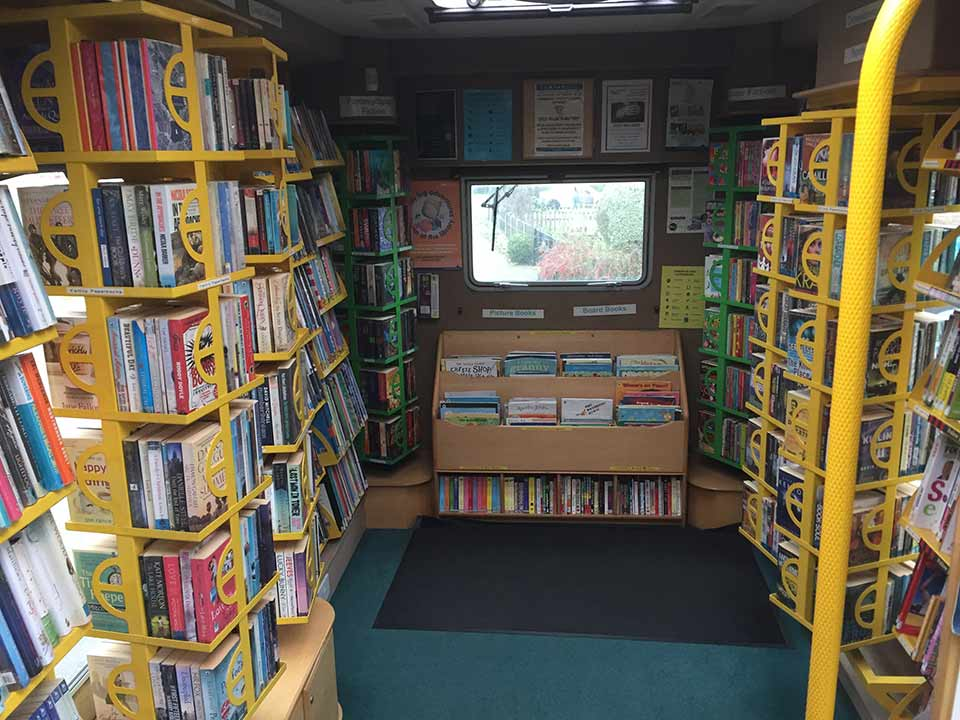 Cambridgeshire mobile library in Great Gidding