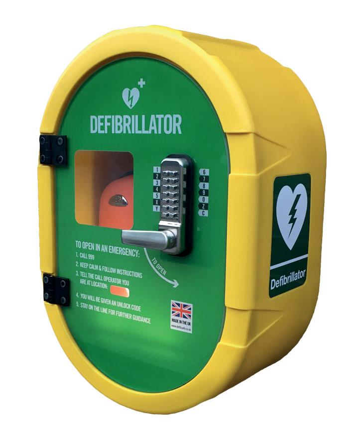Defibrillator and Cabinet