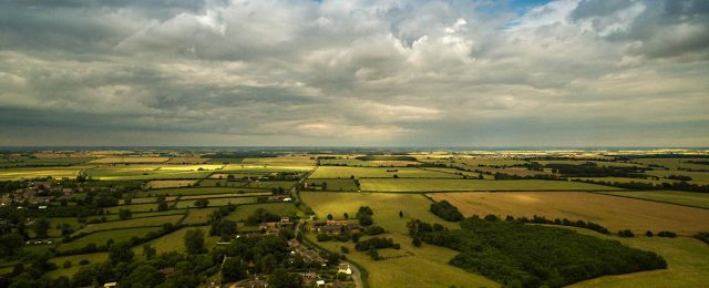 Aerial photos of Great Gidding - Summer