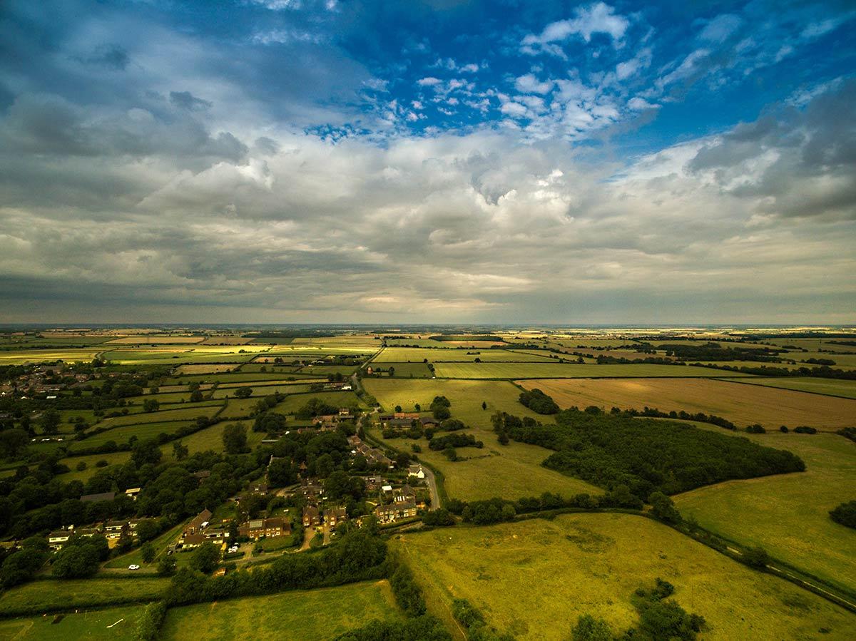 Great Gidding skyscape - Looking towards Milking Slade Lane