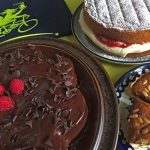 Cakes and tarts at Gidding Gobblers Cafe