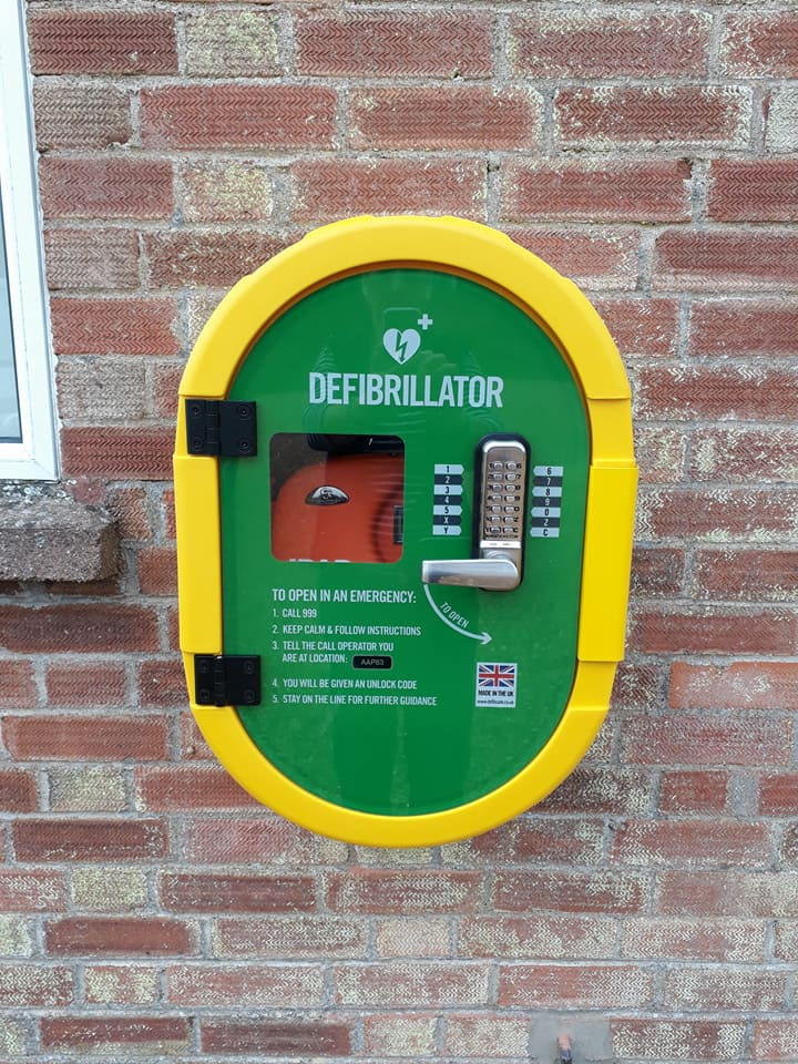 our defibrillator is installed and ready to be used