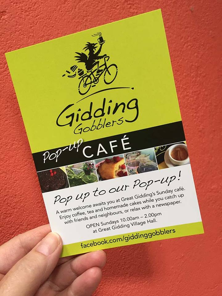 Gidding Gobblers Cafe flyer