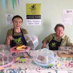 Krystyna and Julie serving in the Gidding Gobblers Café