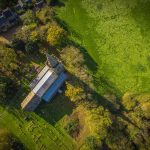 Great Gidding - St Michael's from above
