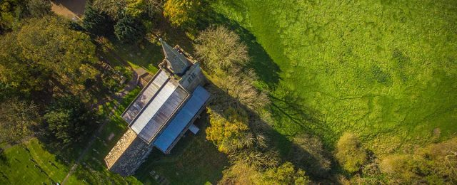 Recent aerial views of Great Gidding.