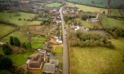 Main Street, Great Gidding - December 2107