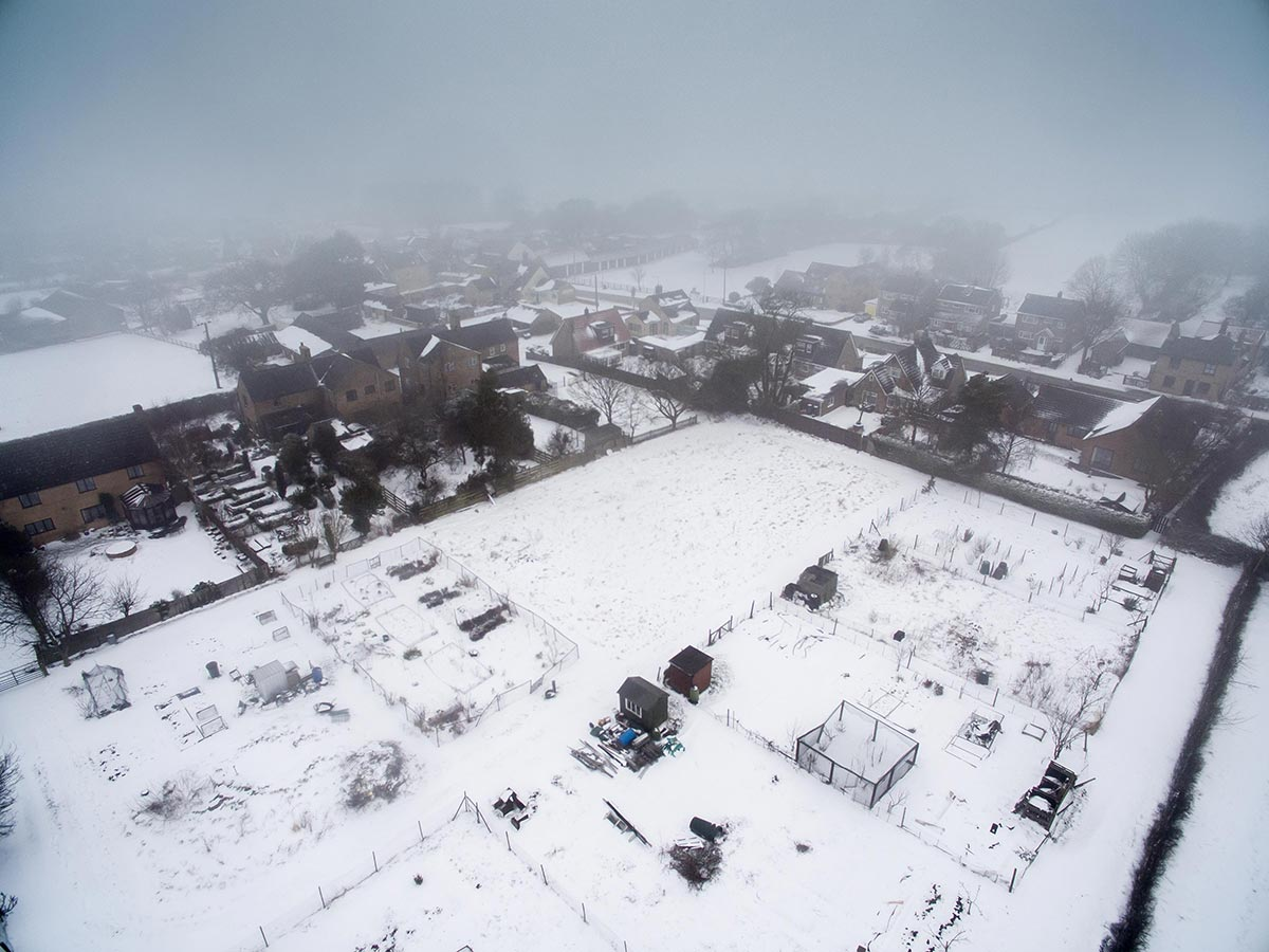 Beast from the East hits Great Gidding Feb 2018