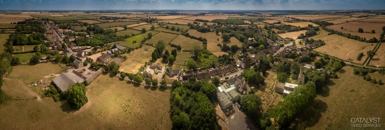 Panoram of Main Street Great Gidding, July 2018