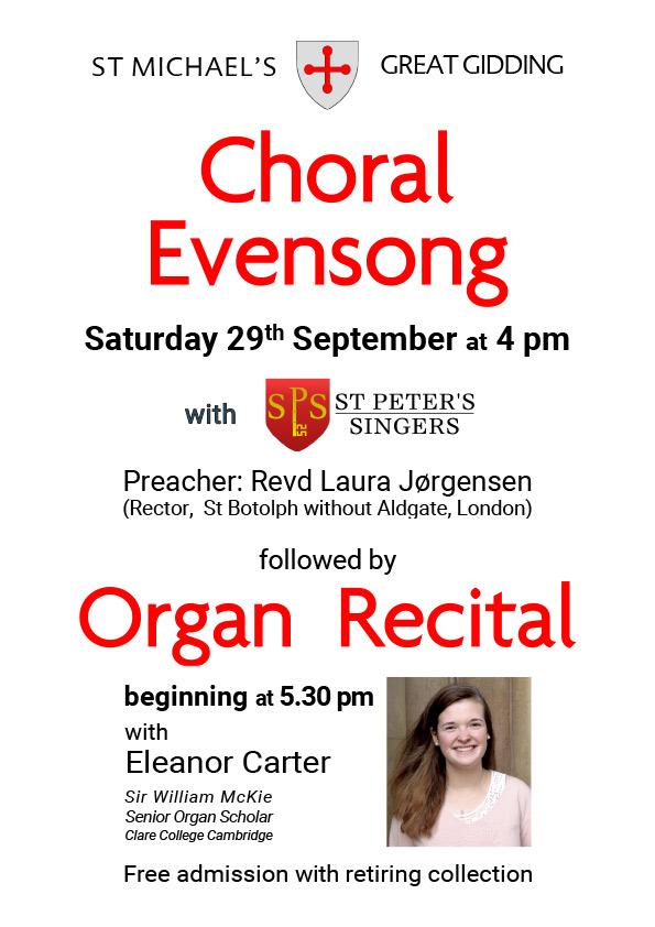 Organ recital at St Michaels Church Great Gidding