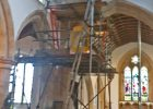St Michael's Church Great Gidding closed for repairs