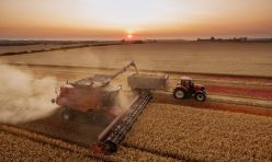 Aerial images of harvesting in Great Gidding