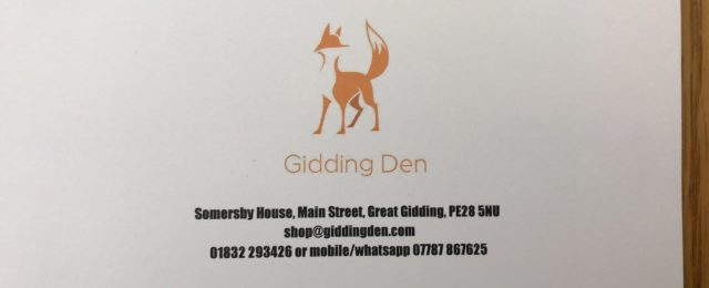 Gidding Den has just opened in the shop opposite the pub and is selling equestrian items, country clothing and gifts. Ideal for birthday presents!