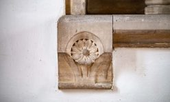 Stone carving - St Michael's Church, Great Gidding