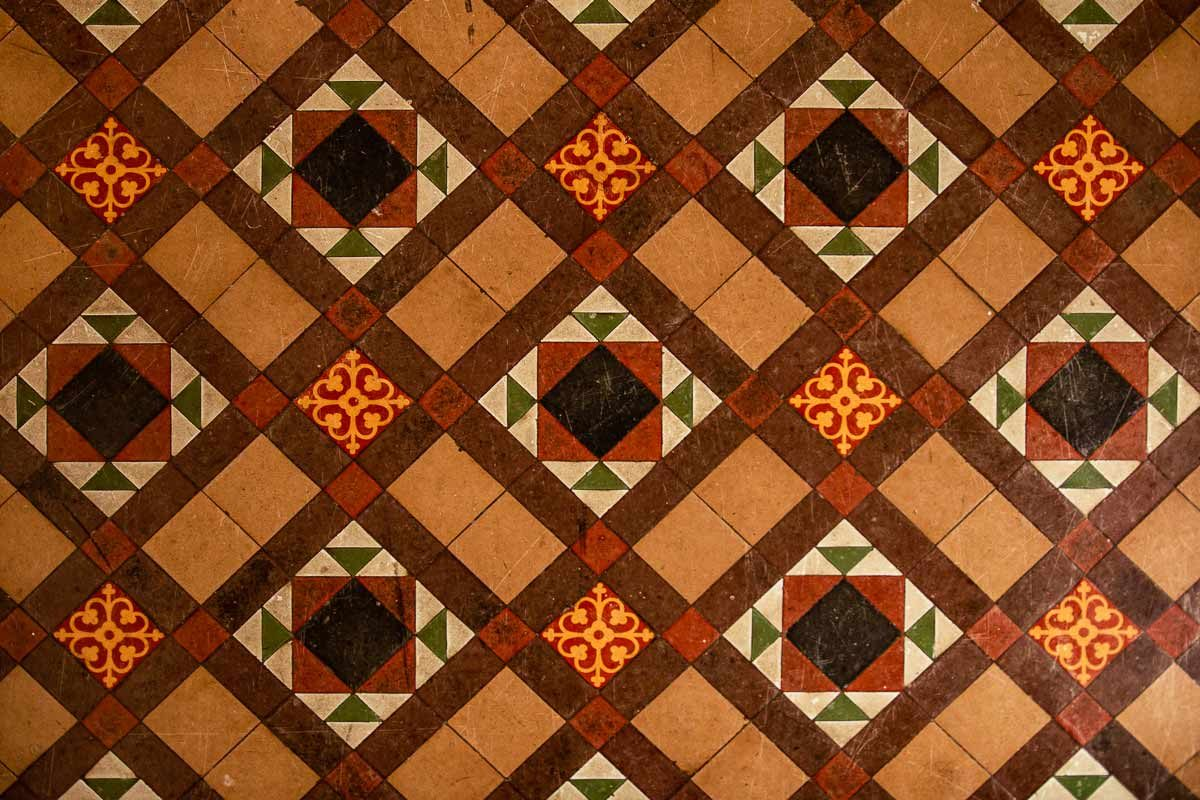 St Michael's Great Gidding - interior floor pattern