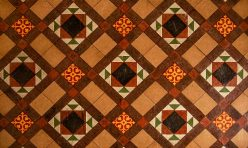 Tiled floor - St Michael's Church, Great Gidding