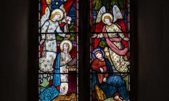 Stained glass - St Michael's Church, Great Gidding