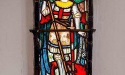 St Michael stained glass - St Michael's Church, Great Gidding