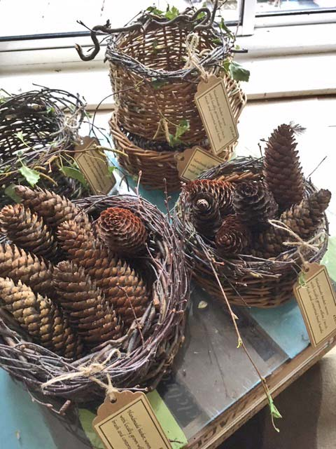 Wicker baskets - Gidding Christmas Cornucopia