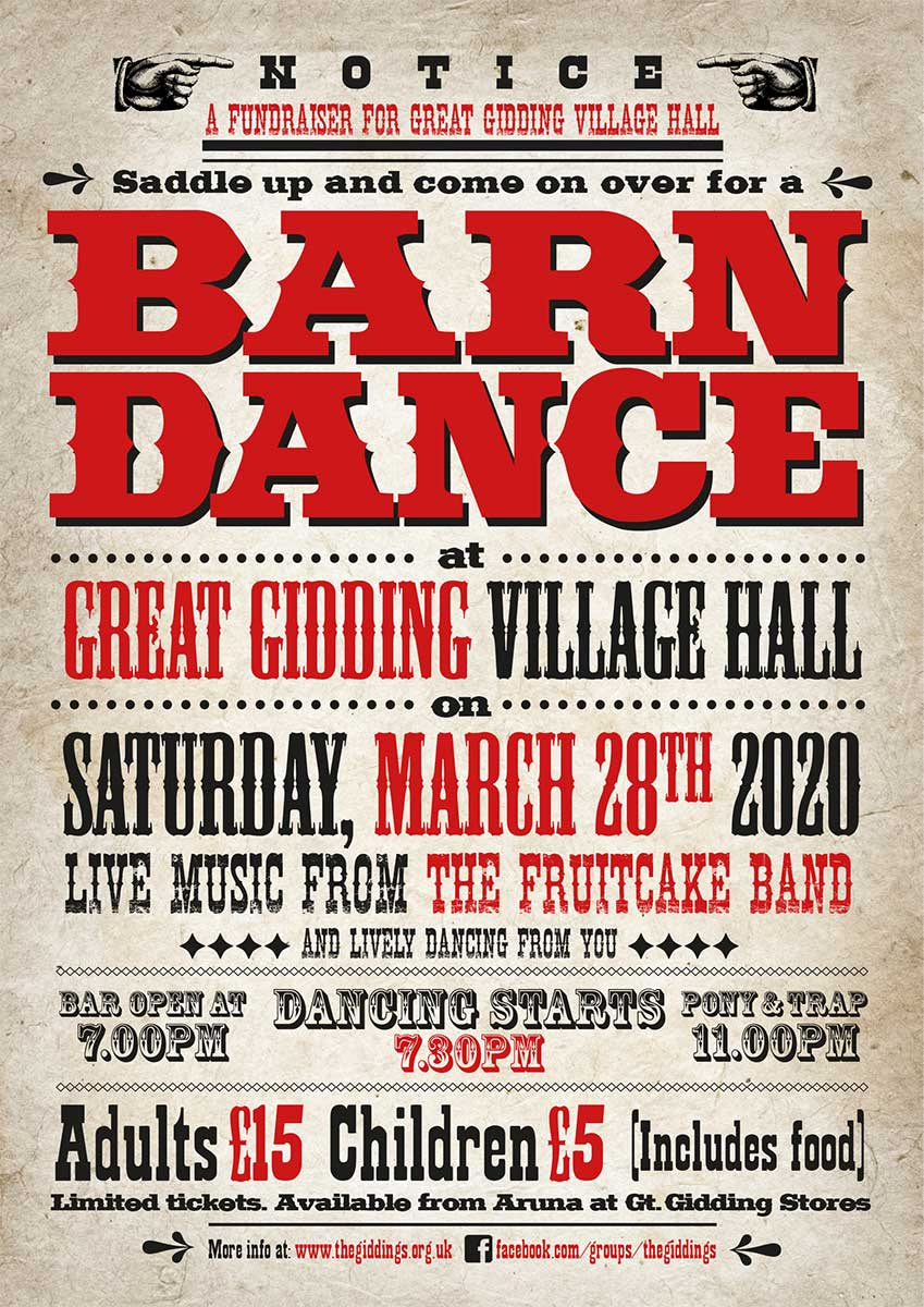 Great Gidding Barn Dance poster